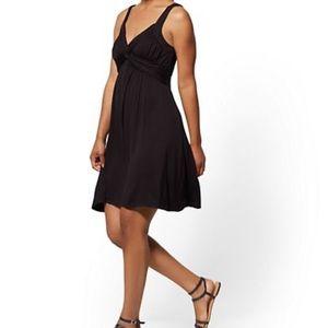 NY&Co Black Soho Street Goddess Dress XXL NWT